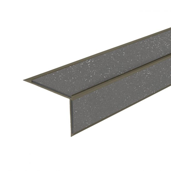 ALH2 PVC R12 elox C-33 stair nosing made of aluminium